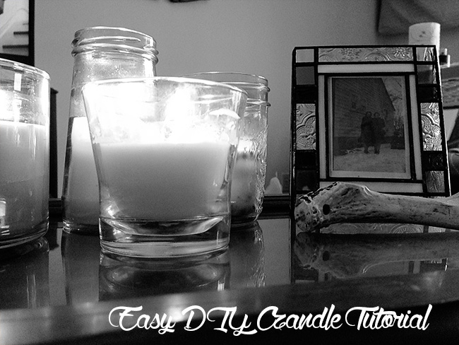 Easy DIY candle tutorial